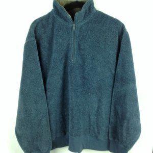 Vintage Orvis Blue Marled Sherpa Fleece Pullover